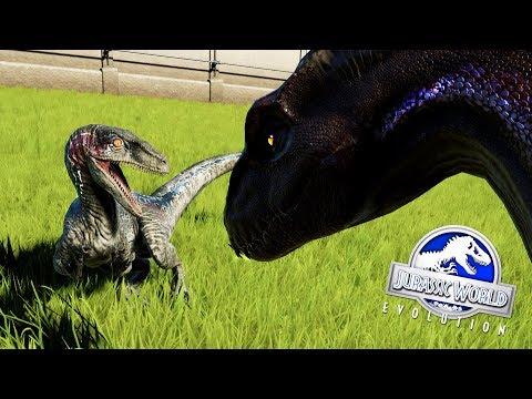 raptor-squad-contra-indoraptor-¿quien-ganarÁ-la-pelea-de-dinosaurios?-jurassic-world-evolution-blue