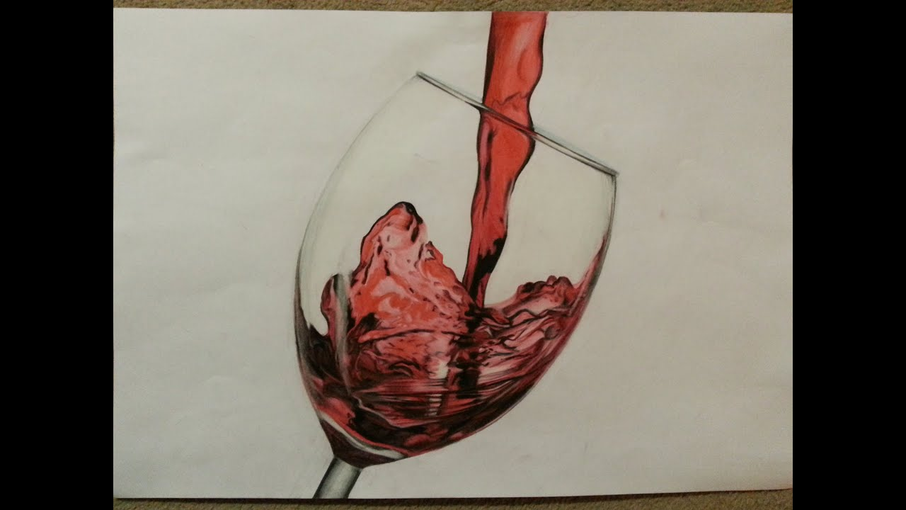 Time lapse wine glass drawing youtube for How to draw on wine glasses