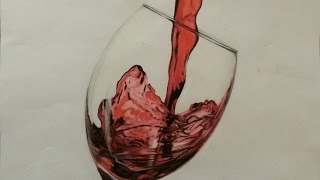 Time Lapse Wine Glass Drawing