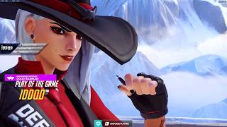 IDDQD DOMINATING AS ASHE! POTG! [ OVERWATCH SEASON 18 TOP 500 ]