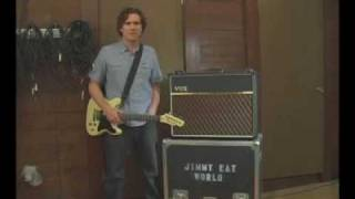 jim adkins of jimmy eat world with vox ac30 custom classic