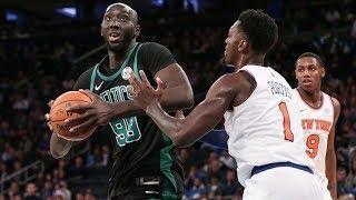 Boston Celtics Vs New York Knicks - Taco Fall Scores His First NBA Points!| FERRO REACTS SPORTS