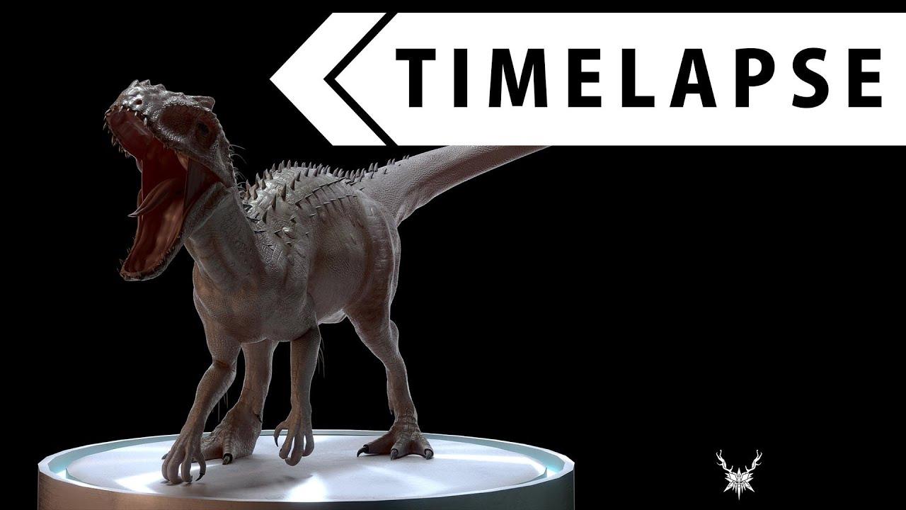 Blender Character Modeling Timelapse : Indominus rex creature creation modeling sculpting