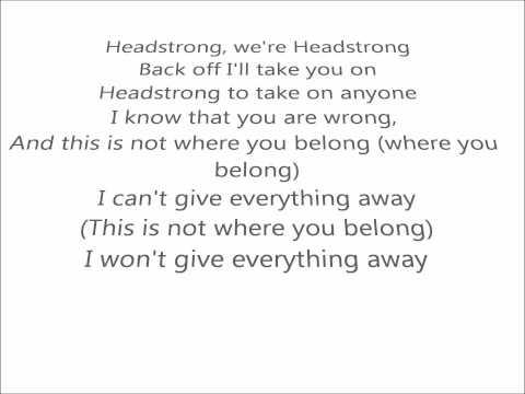 Headstrong  Trapt lyrics