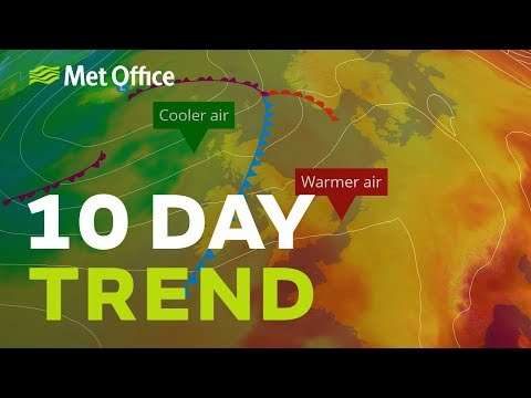10 day trend – will the hot, dry sunny summer continue?