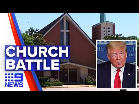 Coronavirus: Donald Trump Orders Churches To Reopen | Nine News Australia