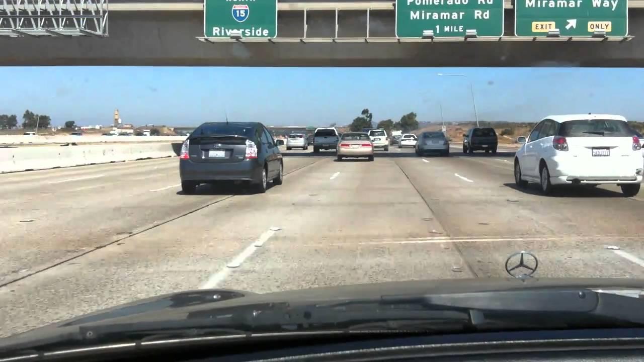 California Freeways Sango Ca 163 North Ca 15 North