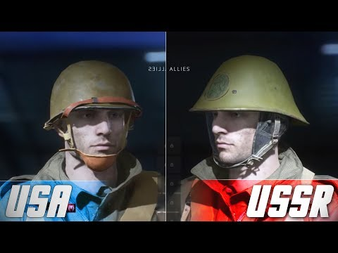 BATTLEFIELD 5 LEAK - DUTCH/ITALIAN/AMERICAN FACTIONS (Cosmetics)