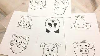 panda draw drawing simple marker face animal pen pencil trace pig using