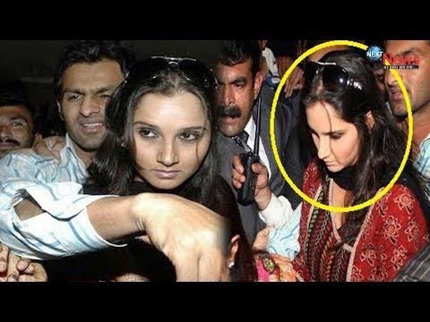Sania Mirza-Shoaib Malik का तलाक..?,  भीड़ में सानिया को खींचते हुए पकड़े गए पति..
