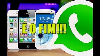 É O FIM! WHATSAPP vai deixar de Funcionar em alguns Celulares Android e iOS - Veja a Lista!