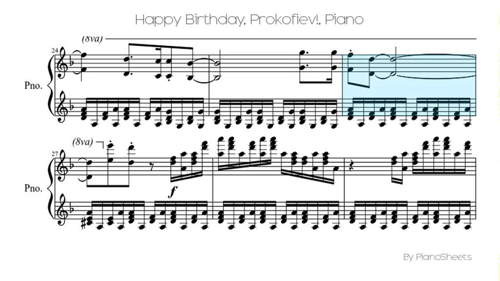 Piano happy birthday piano sheet music : Happy Birthday, Prokofiev! [Piano Solo] - YouTube