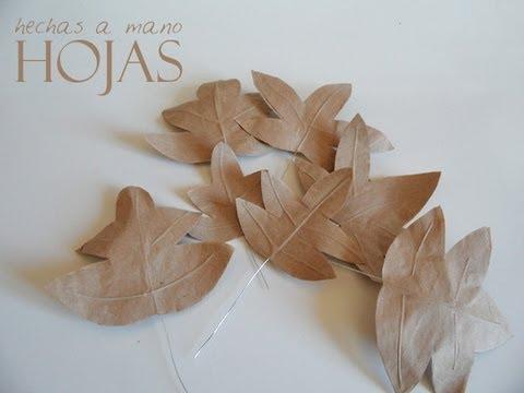 C mo hacer hojas de papel youtube - Hojas de otono para decorar ...