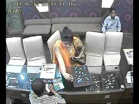 Lady Theft Catch At jewellery shop Cctv Footage Clip