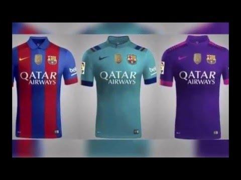 la nueva camiseta de f tbol de fc barcelona 2017 le nouveau maillot du fc barcelone 2017 youtube. Black Bedroom Furniture Sets. Home Design Ideas