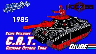 HCC788 - 1985 Crimson Attack Tank - C.A.T.- Sears Exclusive - G.I. Joe toy review!