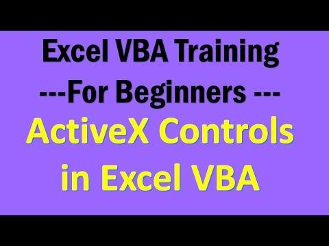 Excel VBA Tutorial 14- Active X Controls in Excel VBA - YouTube