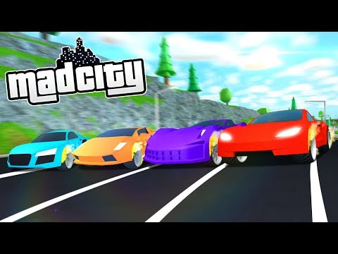RACING EVERY CAR IN MAD CITY (Roblox)