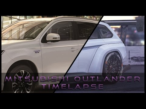 part 1 virtual tuning mitsubishi outlander time attack. Black Bedroom Furniture Sets. Home Design Ideas