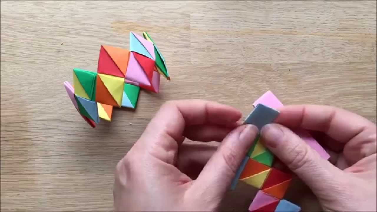 Kirigami Paper Bracelet How To