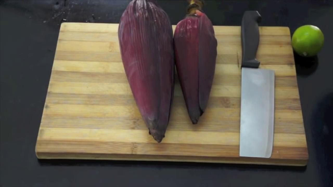 How To Prepare Banana Blossom Youtube