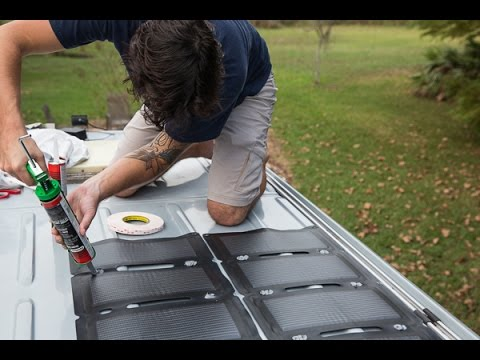Vlog 07 Mounted Solar Panels With Tape And Glue Youtube