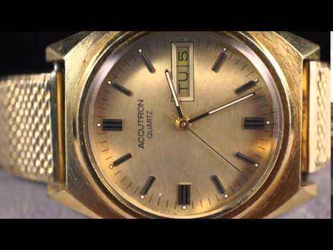 1982 vintage bulova accutron mens wristwatch p2 gold plated youtube