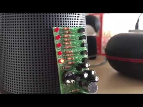 velleman pocket vu meter mk115 youtube rh youtube com VU Meter Display LED Audio VU Meter