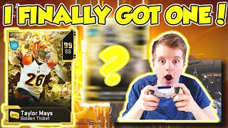 I FINALLY PULLED ONE! PACK OPENING FOR NEW GOLDEN TICKET LAMAR AND MAYS! Madden 20 Ultimate Team