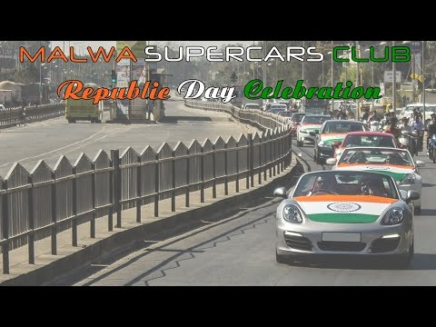 Malwa Supercars Club - Republic Day Celebration Convoy 16' (Indore,India)