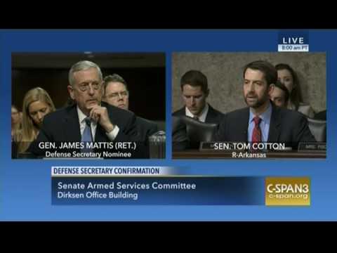 January 12, 2017: Sen. Cotton Q&A at Gen. Mattis SASC Confirmation Hearing