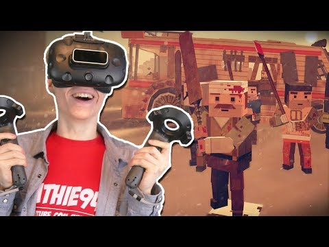 THE WALKING DEAD IN VIRTUAL REALITY | Out of Ammo VR: Death Drive  (HTC Vive Gameplay) Ep.1