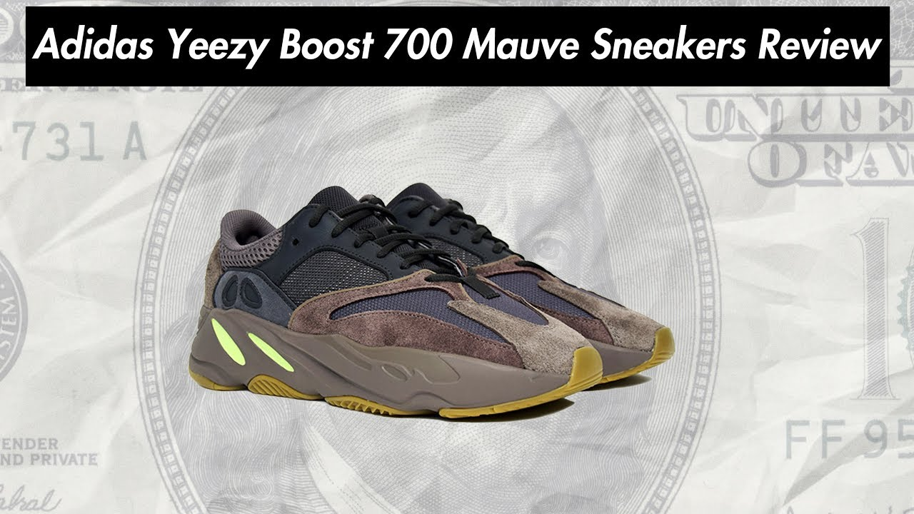 02a1cf56bf1 Adidas Yeezy Boost 700 Mauve Sneakers Review - YouTube