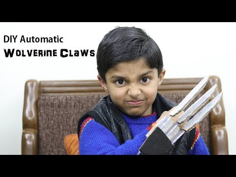 X-MEN WOLVERINE Claws fully automatic DIY (in Hindi)   How to make Wolverine Claws   Art Attack DIY