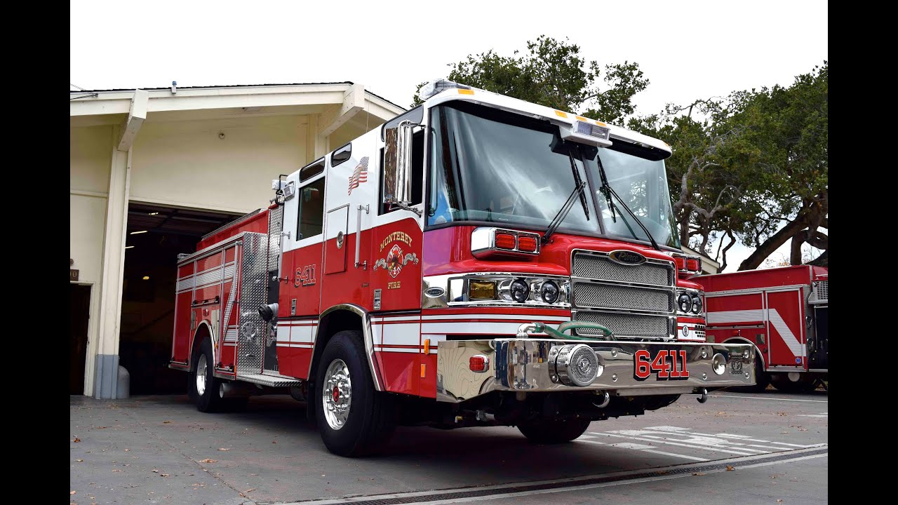 monterey 39 s new pierce quantum fire engine 6411 youtube. Black Bedroom Furniture Sets. Home Design Ideas