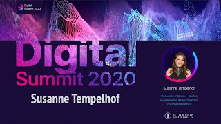 Digital Summit 2020 Day 2.4 Broadcast of the speech by Susanne Tempelhof (Founder of Bitnation)