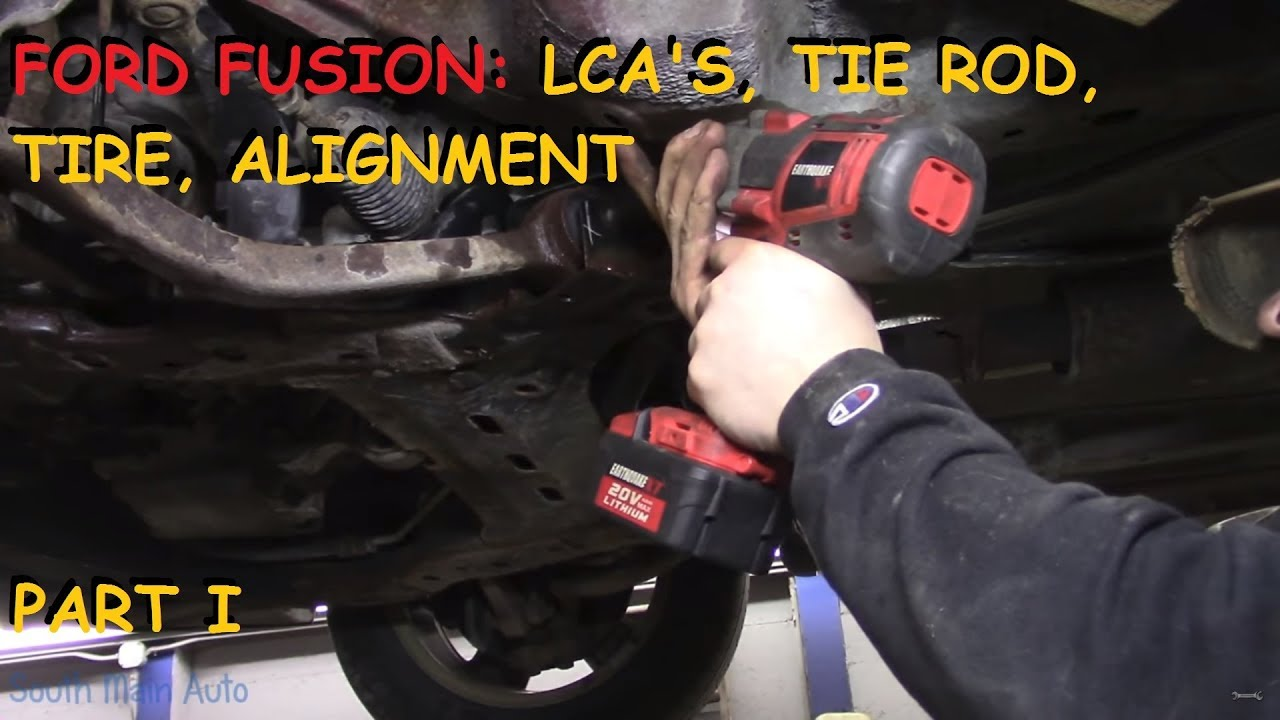 Car Tire Alignment Chicago, Ford Fusion Front Lower Control Arms Tie Rod Tire Alignment Part I, Car Tire Alignment Chicago