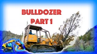 Bulldozer plowing trees – Moving Machines – Construction Equipment for Kids