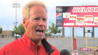 2014 Lobo Football | Coach Bob Davie: Spring Football Final Practice Wrap Up