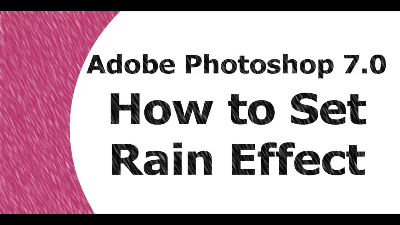 Adobe Photoshop Tutorial Bangla 7.0 Rain Effect