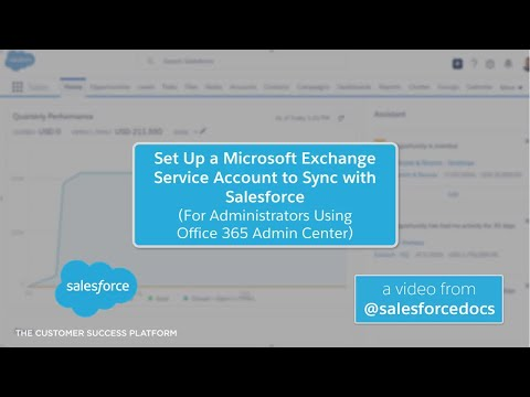 Set Up a Microsoft Exchange Service Account to Sync with Salesforce (Office 365 Admin Center)