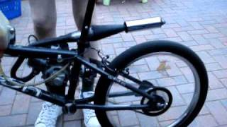 Repeat youtube video BMX fitted with 50cc Mini moto engine part2