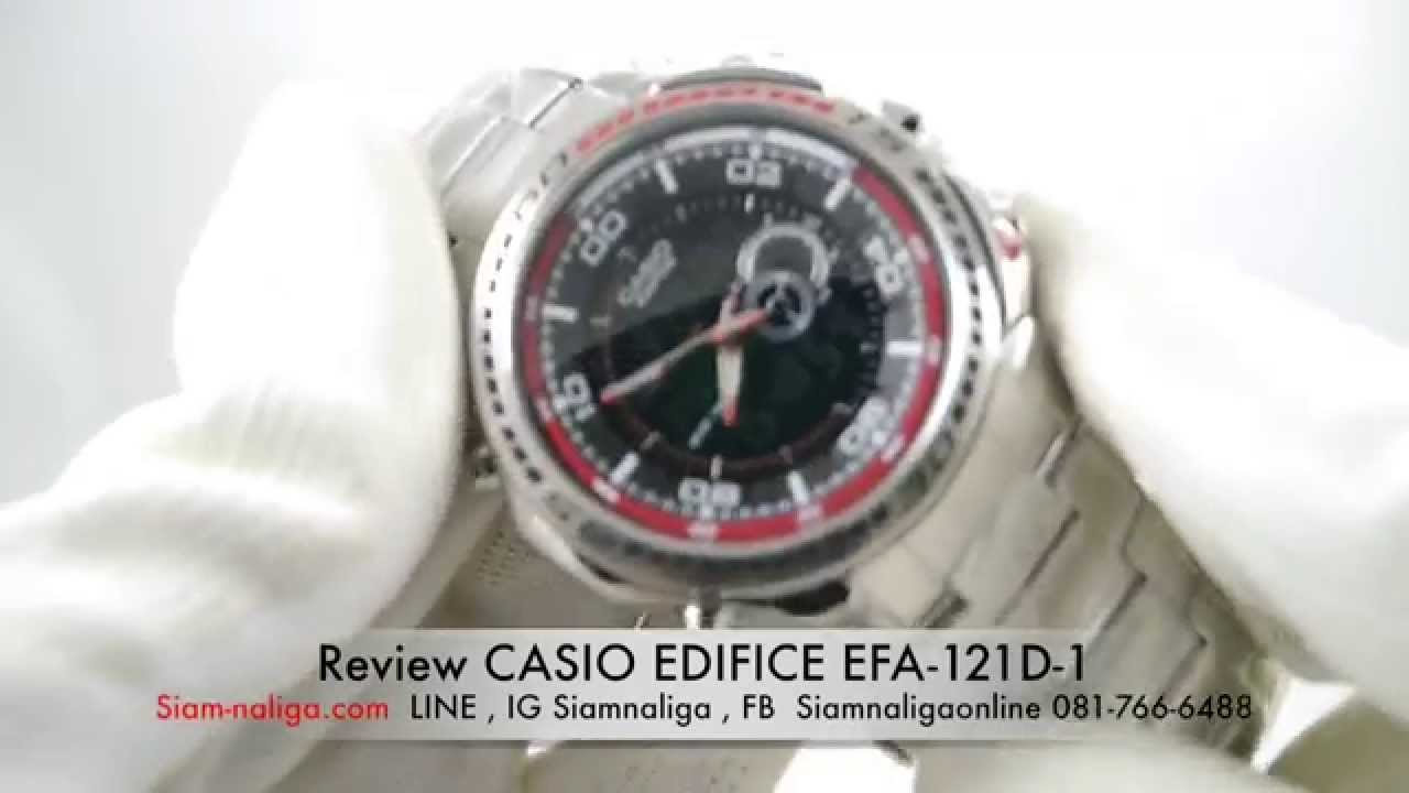 Casio edifice efa-121d-1av youtube.