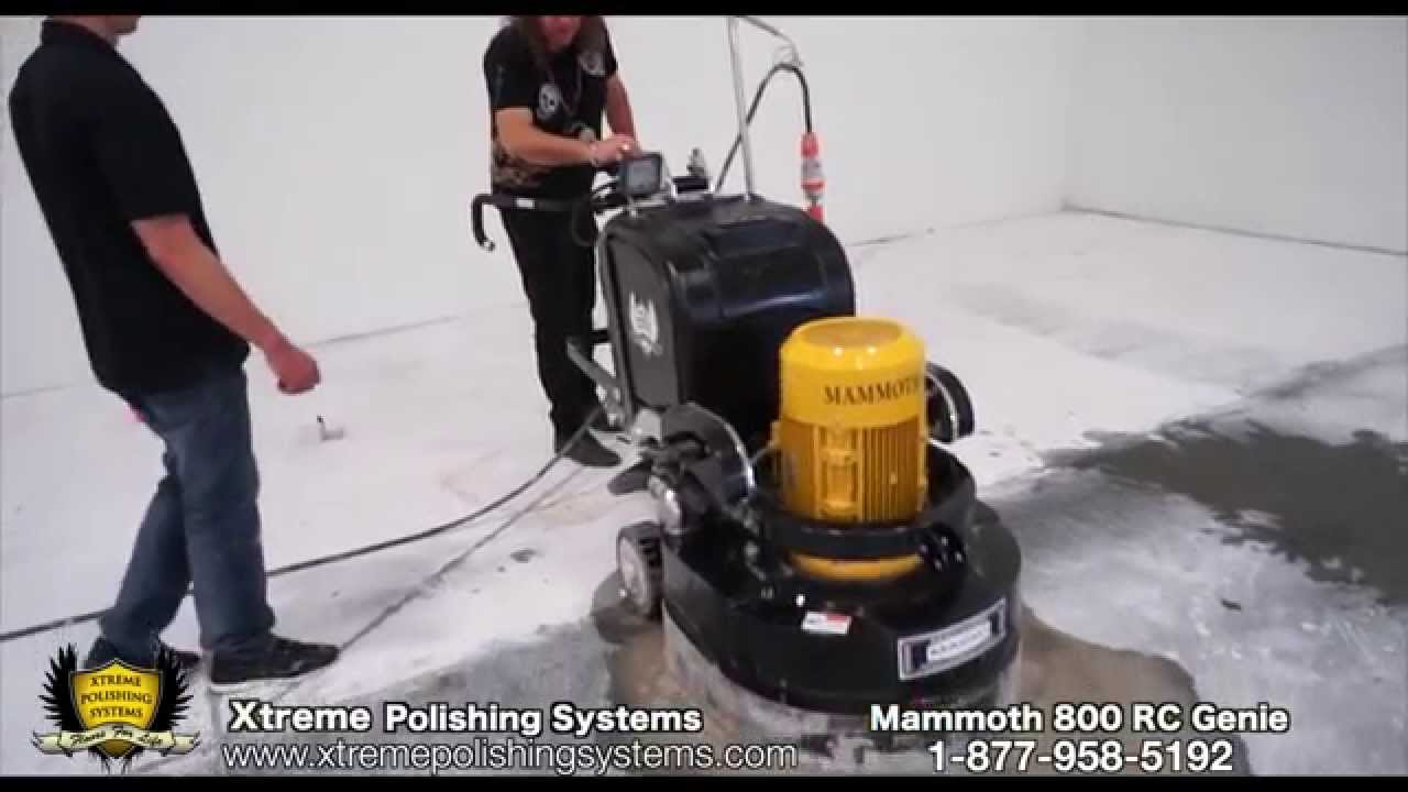 HOW-TO Operate the Concrete Mammoth Grinder 800 RC
