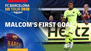 Malcom scores in his first match as a starter at Barça