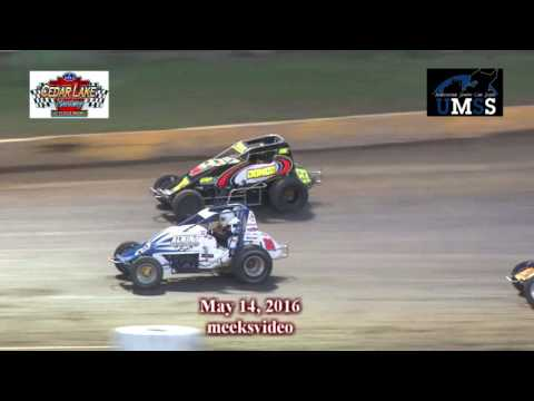 5-14-2016 UMSS Wingless Sprints Cedar Lake Speedway