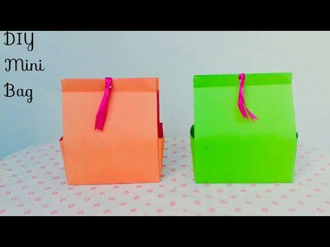 DIY Mini Bag || How To Make Paper Bag At Home || Paper Bag Making Tutorial