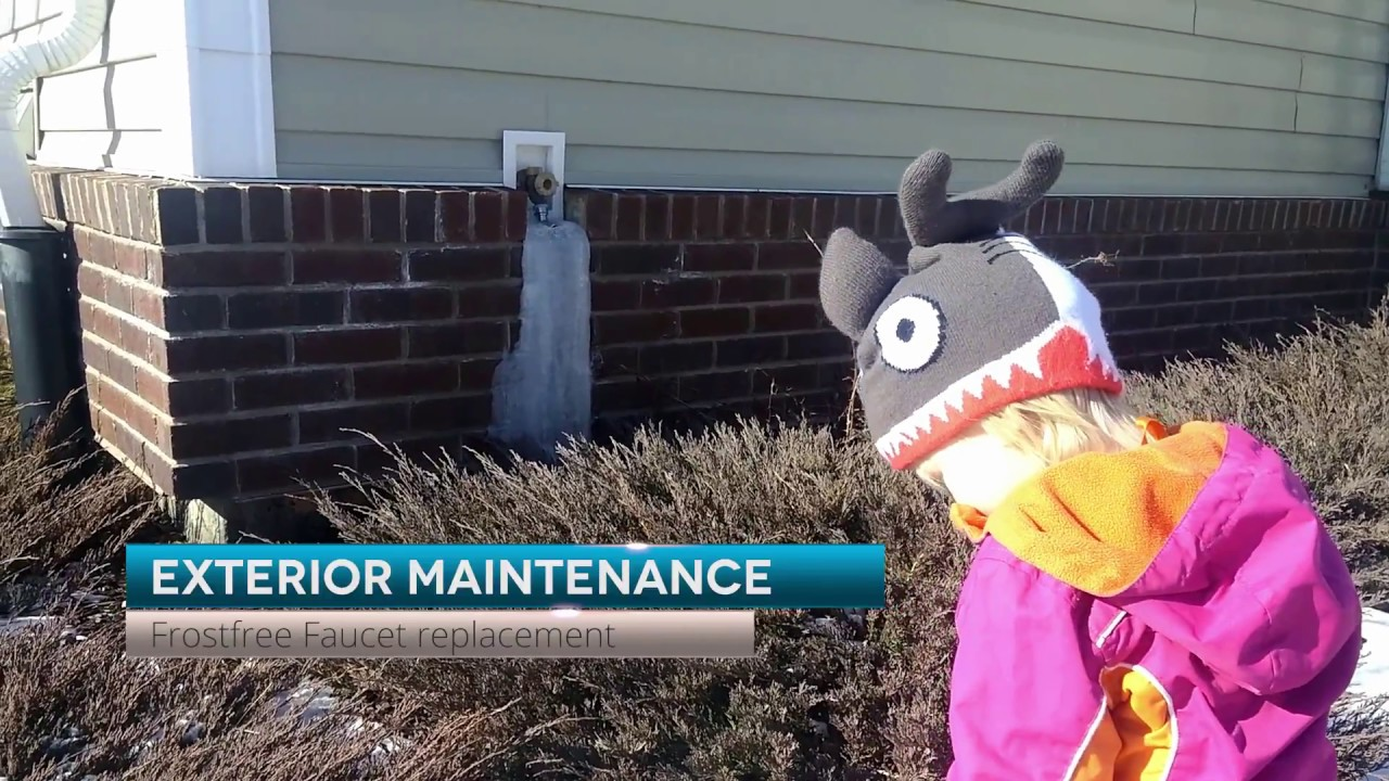 Frostfree faucet replacement - YouTube