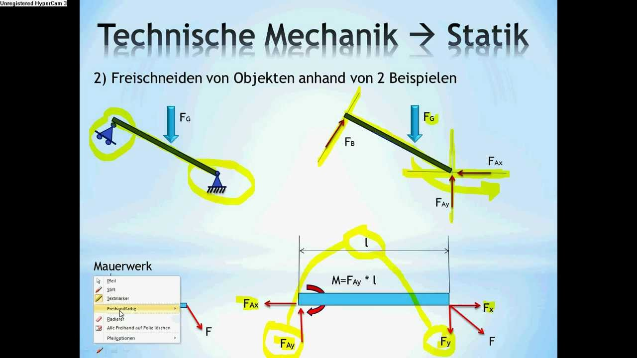 Technische mechanik grundlagen statik nachhilfe youtube for Statik mechanik