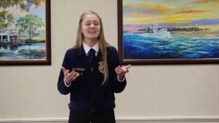 Kaylin Kleckner  FFA Speech